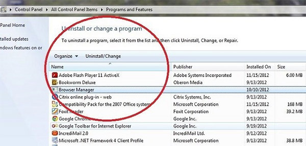 programs-features Como remover partners2.admedit-network.life